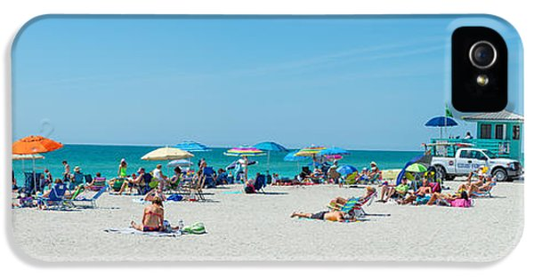 People On The Beach, Venice Beach, Gulf IPhone 5s Case by Panoramic Images