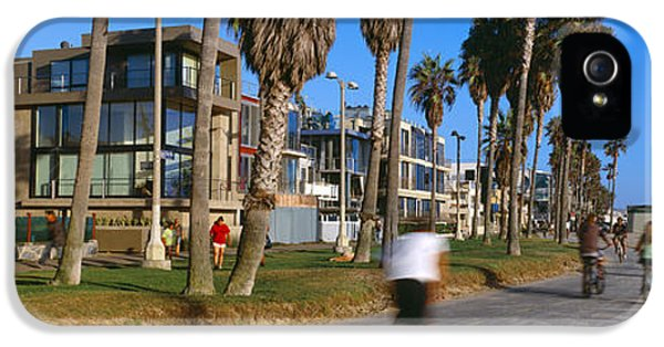 Venice Beach iPhone 5s Case - People Riding Bicycles Near A Beach by Panoramic Images