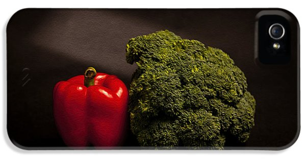 Pepper Nd Brocoli IPhone 5s Case by Peter Tellone