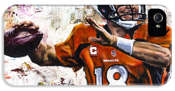 Football iPhone 5s Case - Peyton Manning by Mark Courage