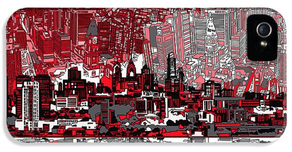 Philadelphia Skyline Abstract 4 IPhone 5s Case