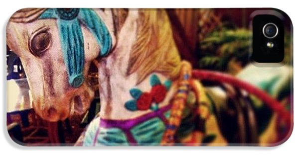 Decorative iPhone 5s Case - Blue Heaven Carousel Horse by Dani Hoy