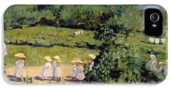 Crocodile iPhone 5s Case - Picnic In May, Summer Day, 1906 by Karoly Ferenczy