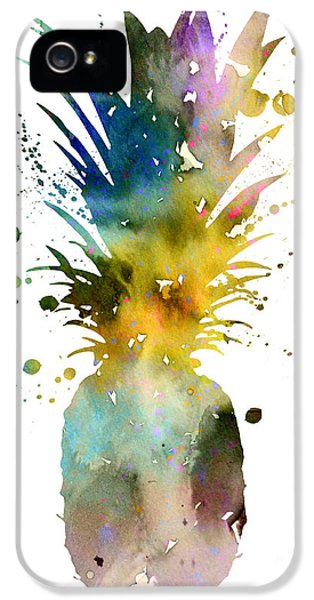 Pineapple 2 IPhone 5s Case by Watercolor Girl