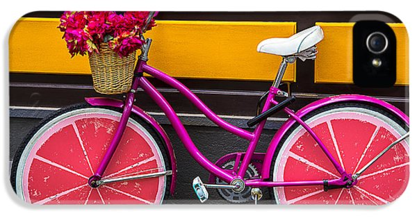 Bicycle iPhone 5s Case - Pink Bike by Garry Gay