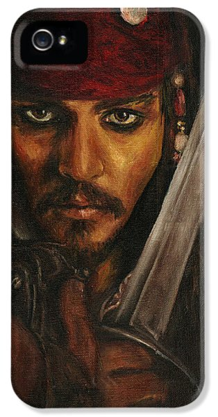 Pirates- Captain Jack Sparrow IPhone 5s Case by Lina Zolotushko