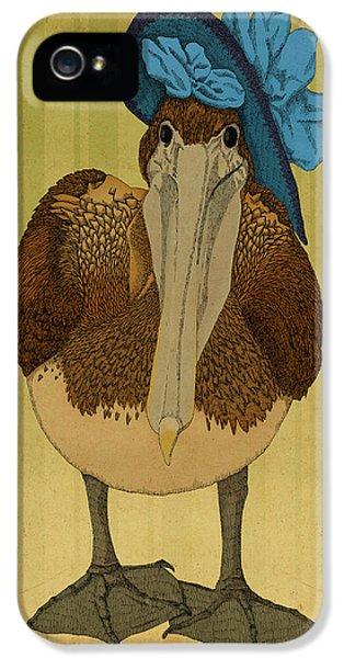 Pelican iPhone 5s Case - Plumpskin Ploshkin Pelican Jill by Meg Shearer