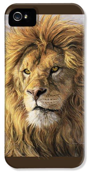 Portrait Of A Lion IPhone 5s Case by Lucie Bilodeau