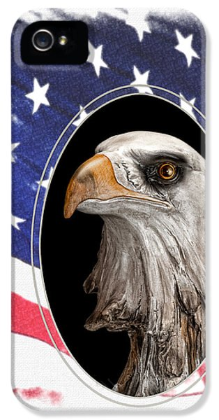 Eagle iPhone 5s Case - Portrait Of America by Tom Mc Nemar