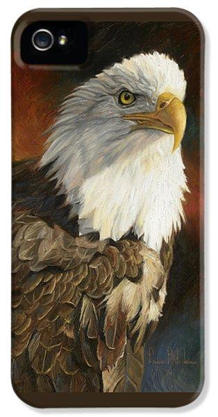 Portrait Of An Eagle IPhone 5s Case by Lucie Bilodeau