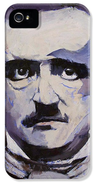 Edgar Allan Poe IPhone 5s Case by Michael Creese