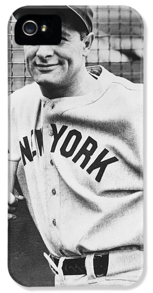 New York Yankees iPhone 5s Case - Portrait Of Lou Gehrig by Underwood Archives