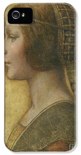 Portraits iPhone 5s Case - Profile Of A Young Fiancee by Leonardo Da Vinci