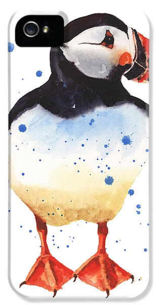 Puffin Watercolor IPhone 5s Case by Alison Fennell