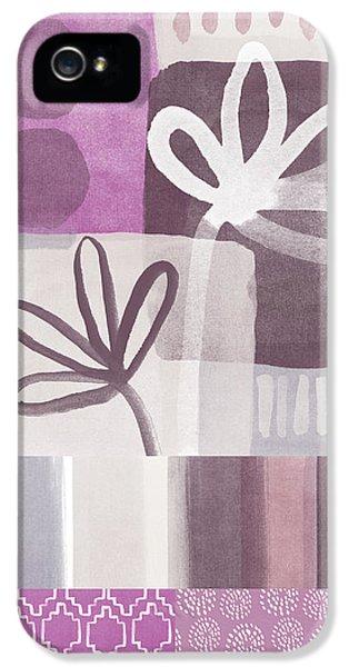 Purple Patchwork- Contemporary Art IPhone 5s Case