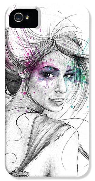 Fairy iPhone 5s Case - Queen Of Butterflies by Olga Shvartsur