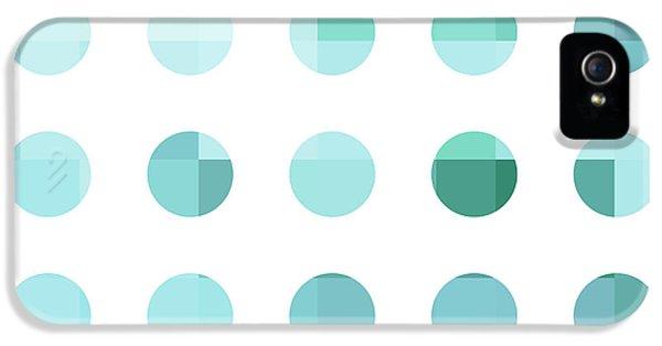 Rainbow Dots Aqua  IPhone 5s Case by Pixel Chimp