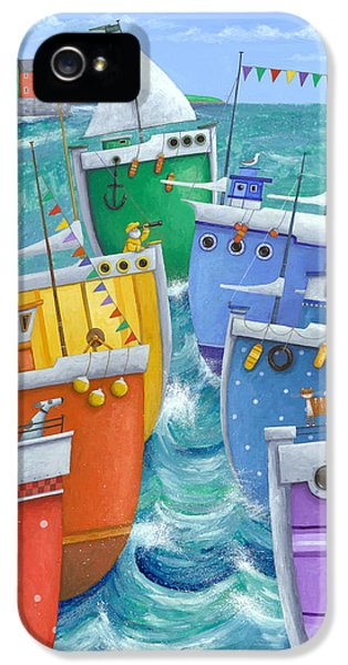 Boat iPhone 5s Case - Rainbow Flotilla by Peter Adderley