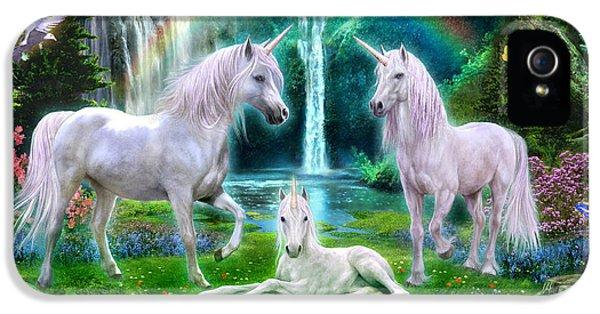 Rainbow Unicorn Family IPhone 5s Case