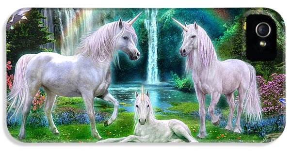 Rainbow Unicorn Family IPhone 5s Case by Jan Patrik Krasny