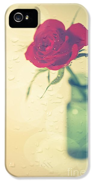 Rose iPhone 5s Case - Raindrops On Roses . . . by Jan Bickerton