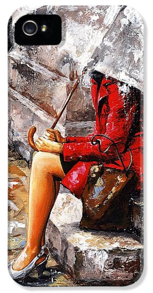 Rainy Day - Woman Of New York IPhone 5s Case by Emerico Imre Toth