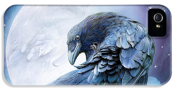 Raven Moon IPhone 5s Case by Carol Cavalaris