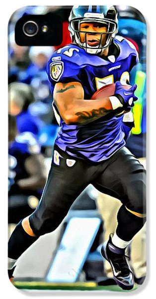 Football iPhone 5s Case - Ray Rice by Florian Rodarte
