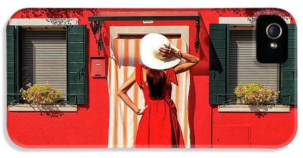 Facade iPhone 5s Case - Red by Anette Ohlendorf