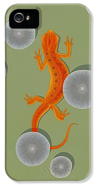 Red Eft Newt IPhone 5s Case by Nathan Marcy