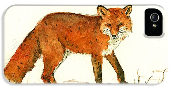 Red Fox In The Snow IPhone 5s Case by Juan  Bosco