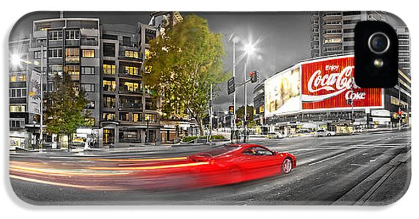Red Lights Sydney Nights IPhone 5s Case by Az Jackson