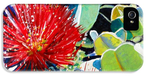 Red Ohia Lehua Flower IPhone 5s Case