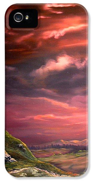 Red Sky At Night IPhone 5s Case by Jean Walker