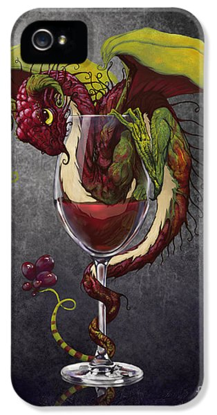 Red Wine Dragon IPhone 5s Case by Stanley Morrison