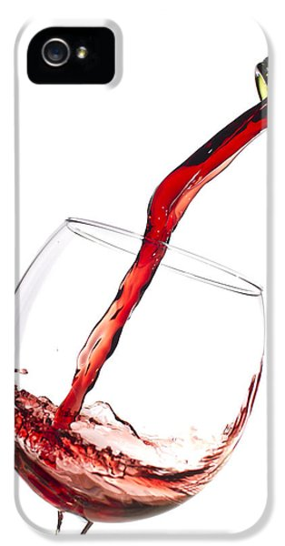 Red Wine Pouring Into Wineglass Splash IPhone 5s Case by Dustin K Ryan