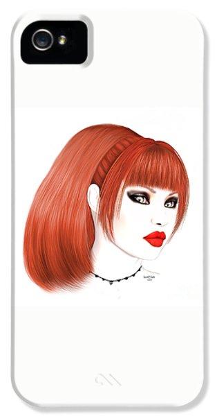 Luxmaris iPhone 5s Case - Redhead Cassia by Renate Janssen