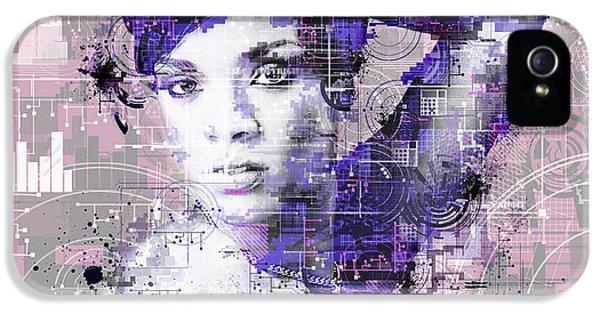 Rihanna 3 IPhone 5s Case by Bekim Art
