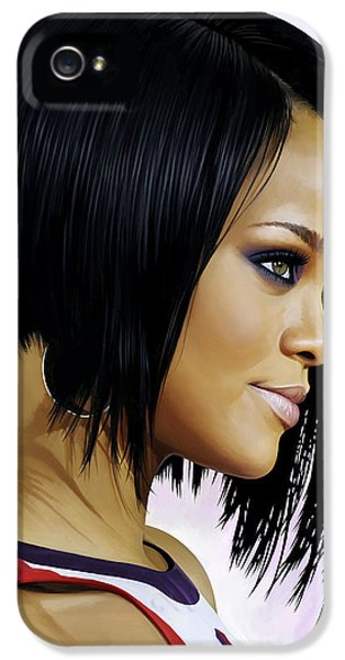 Rihanna iPhone 5s Case - Rihanna Artwork by Sheraz A