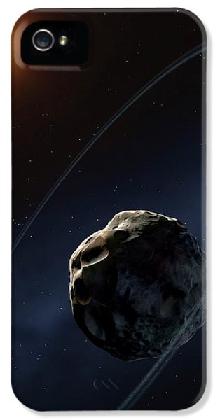 Ringed Asteroid Chariklo IPhone 5s Case by Mark Garlick