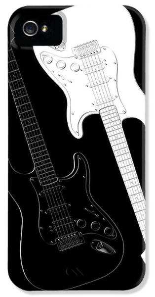 Music iPhone 5s Case - Rock And Roll Yin Yang by Mike McGlothlen