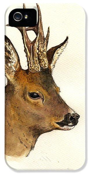 Roe Deer Head Study IPhone 5s Case by Juan  Bosco