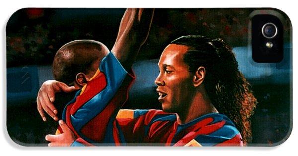 Ronaldinho And Eto'o IPhone 5s Case by Paul Meijering