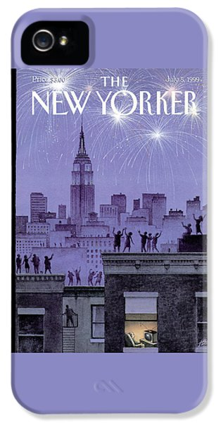 Rooftop Revelers Celebrate New Year's Eve IPhone 5s Case
