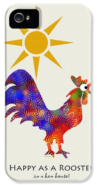 Rooster Pattern Art IPhone 5s Case by Christina Rollo