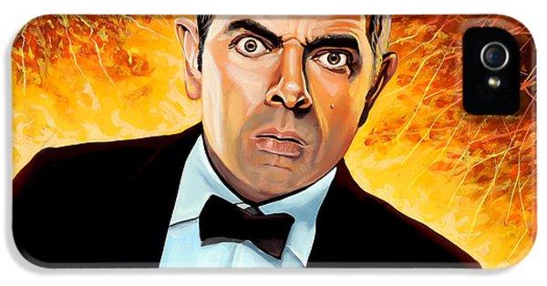 Clock iPhone 5s Case - Rowan Atkinson Alias Johnny English by Paul Meijering
