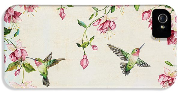 Humming Bird iPhone 5s Case - Rubys Among The Fuchsias by Jean Plout