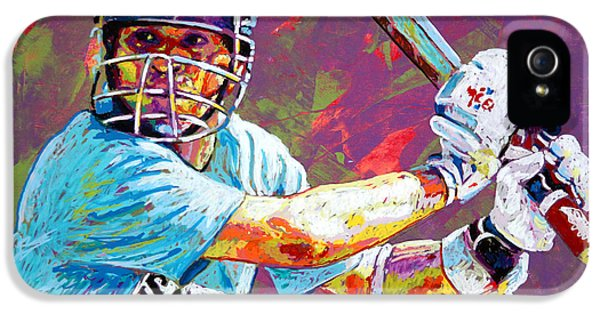 Cricket iPhone 5s Case - Sachin Tendulkar by Maria Arango