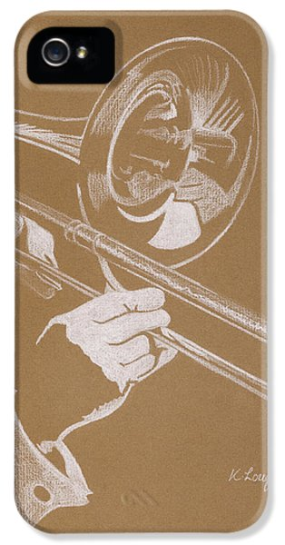 Trombone iPhone 5s Case - Sacred Trombone by Karen  Loughridge KLArt