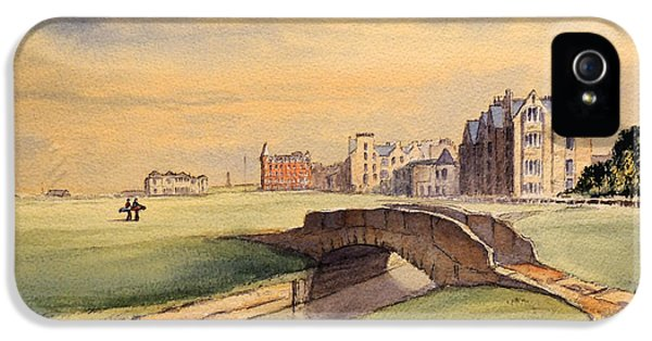 Saint Andrews Golf Course Scotland - 18th Hole IPhone 5s Case by Bill Holkham